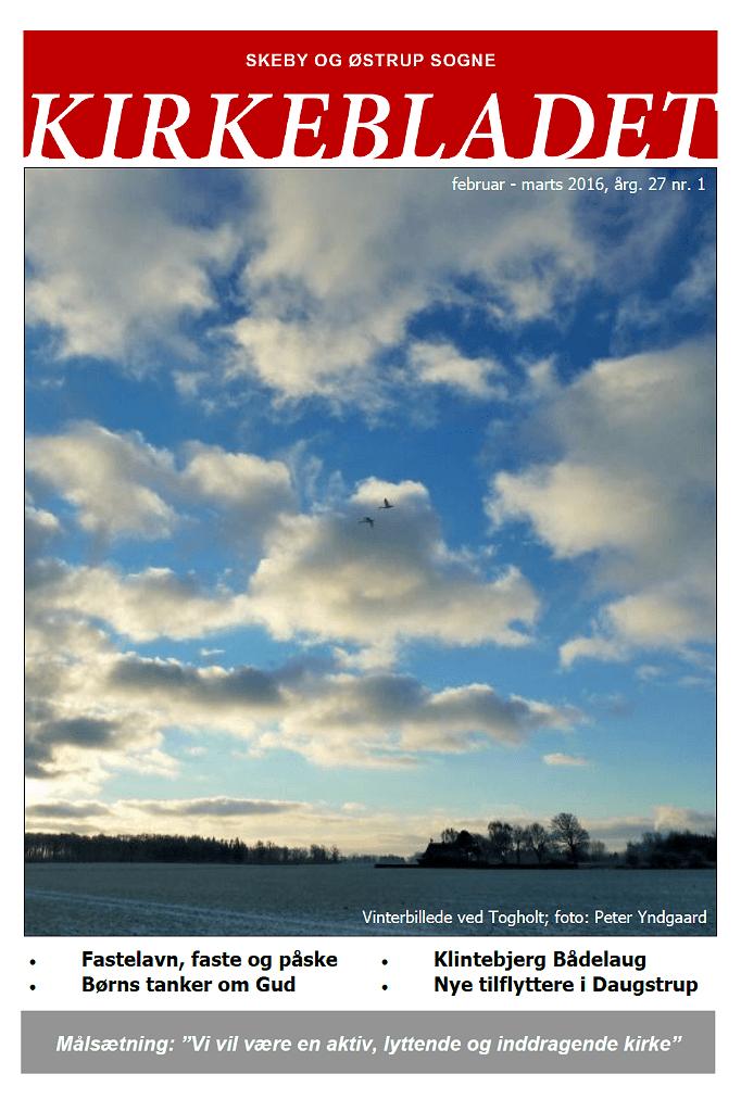 Kirkeblade AArg. 27 nr. 1 feb. - marts 2016