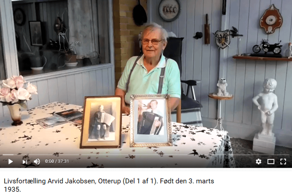 Livsfortællinger og Livsværk Videoer på Youtube Arvid Jakobsen https://www.youtube.com/watch?v=N_1dhsrE30E