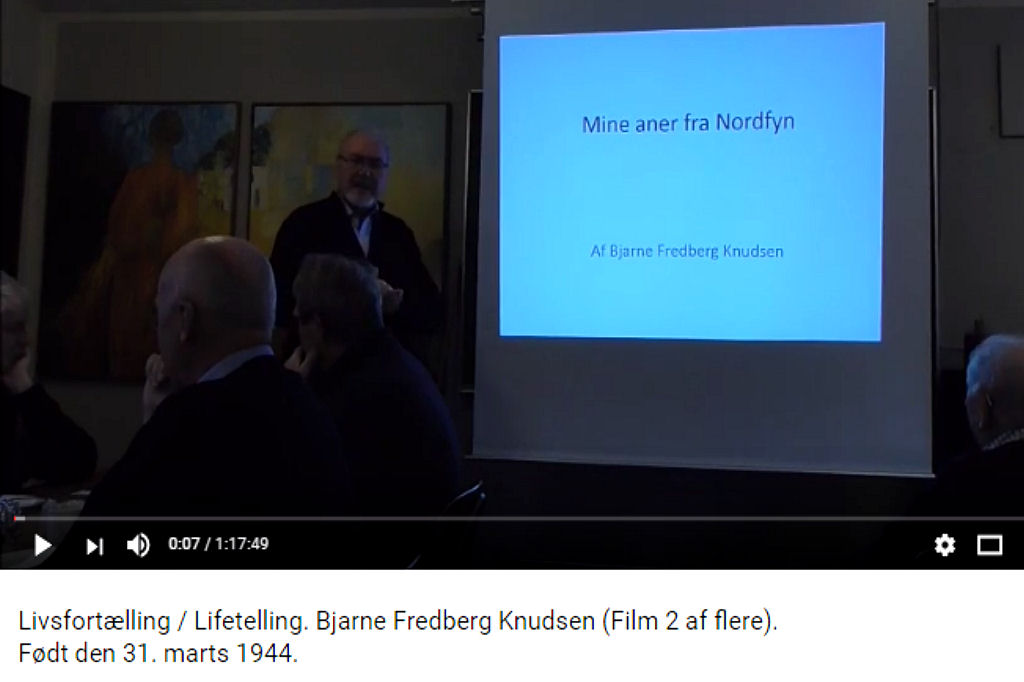 Livsfortælling / Lifetelling. Bjarne Fredberg Knudsen (Film 2 af flere). Født den 31. marts 1944. https://www.youtube.com/watch?v=6cbzC78jhUQ