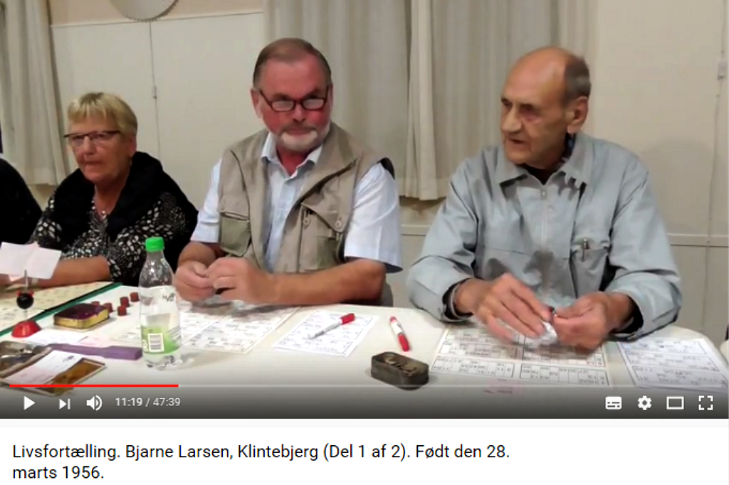 Livsfortællinger og Livsværk Videoer på Youtube Bjarne Larsen Del 1 https://www.youtube.com/watch?v=JeXM7p0cvoU