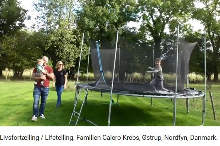 Livsfortælling / Lifetelling. Familien Calero Krebs, Østrup, Nordfyn, Danmark.