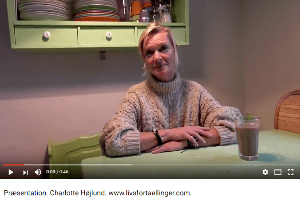 Livsfortællinger og Livsværk Videoer på Youtube Charlotte Højlund https://www.youtube.com/watch?v=fFcmr_eu9DE