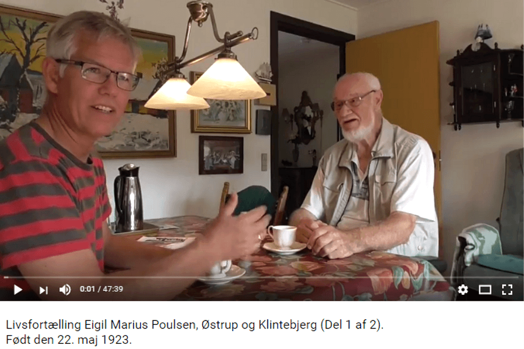 Livsfortællinger og Livsværk Videoer på Youtube Eigil Marius Poulsen Del 1 https://www.youtube.com/watch?v=VREzrqxM3E0