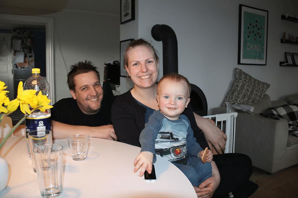 Familien i Gudskov Allan, Maria og Valde