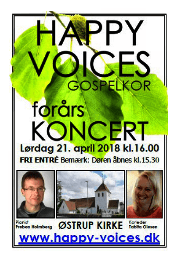 Forårskoncert Happy Voices 21. april