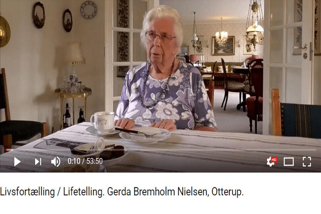 Livsfortælling / Lifetelling. Gerda Bremholm Nielsen