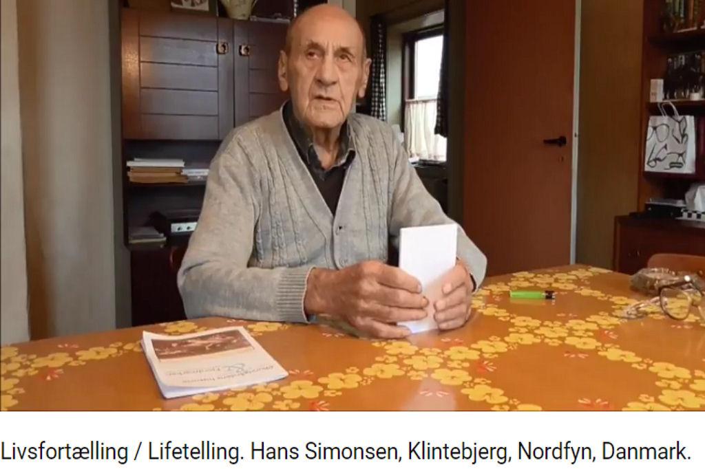 Livsfortælling / Lifetelling. Hans Simonsen, Klintebjerg, Nordfyn, Danmark. Del 2 af flere 2017