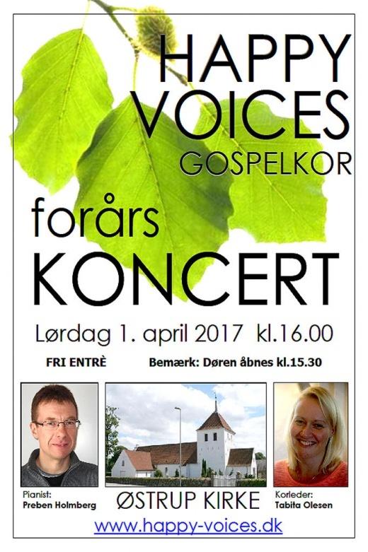 Happy Voices forårskoncert 1. april 2017 https://www.oestrup-skeby-gerskov-kirker.dk/