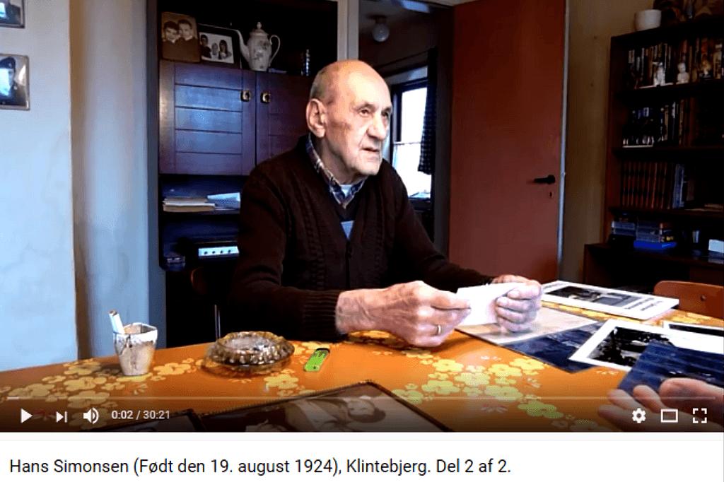 Livsfortælleringer og Livsværk Videoer på Youtube Hans Simonsen 2 af 2 https://www.youtube.com/watch?v=WLhTg0vRa74