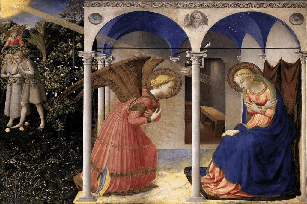 Faste og Marias bebydelse via engel