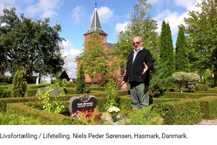 Livsfortælling / Lifetelling. Niels Peder Sørensen, Hasmark, Danmark.