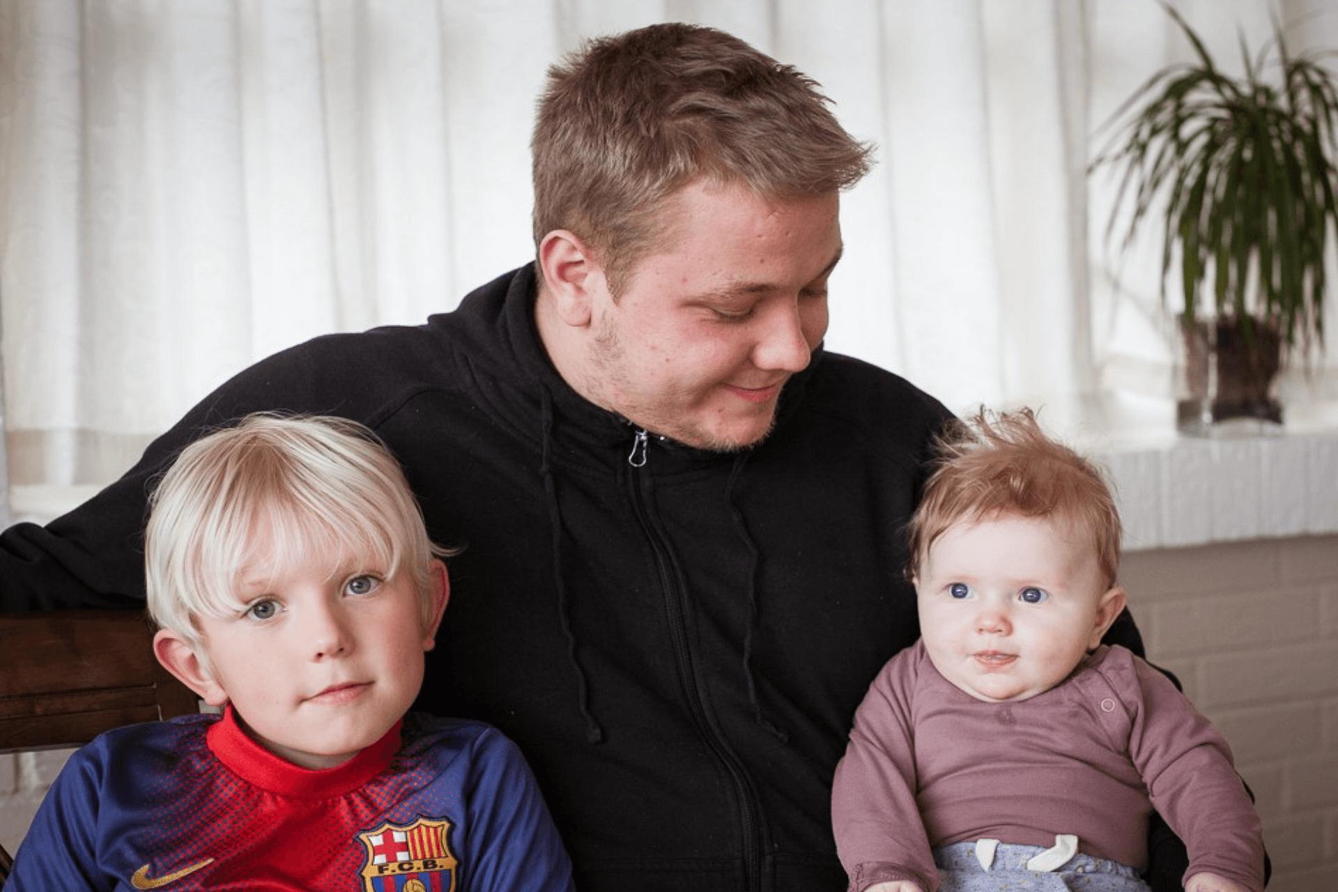 Tilflytterfamilie Michella, Anders, Tjalfe og Sif til Hessum