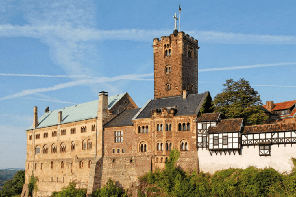 Martin Luther Reformationen - Nadver central Die-Wartburg-in-Eisenach
