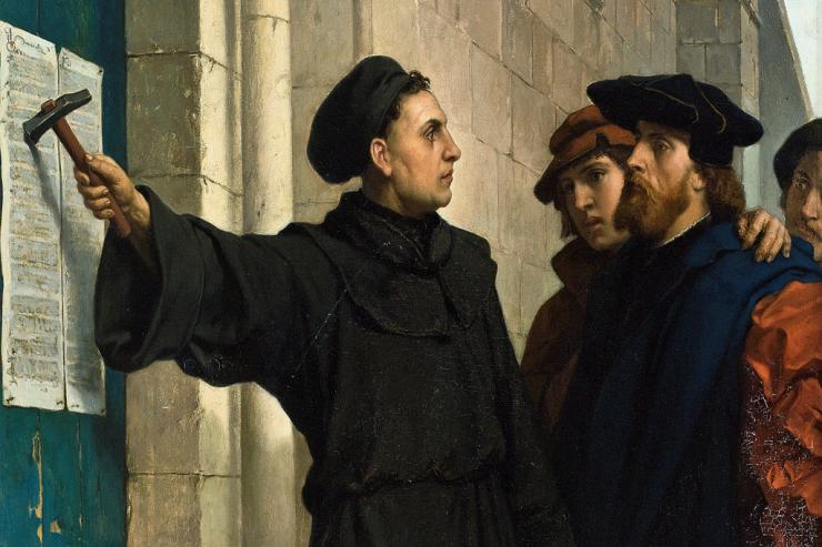 Reformationen Martin Luther 95 teser på døren https://www.oestrup-skeby-gerskov-kirker.dk